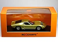 MAXICHAMPS 1/43 ランボルギーニ ミウラ 1966 ゴールド (940103002)