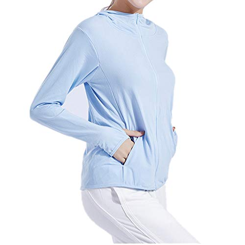 Nobrand Sport-Sweatshirt mit Kapuze und Reißverschluss, langärmelig Gr. M, blau