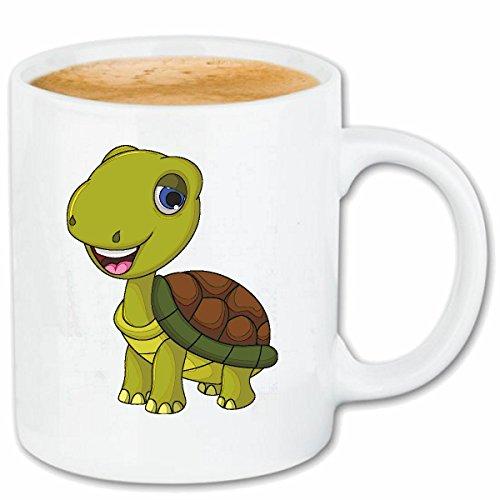 Reifen-Markt Kaffeetasse FRÖHLICHE SCHILDKRÖTE MIT Panzer SCHILDKRÖTEN LANDSCHILDRÖTE MEERESSCHILDKRÖTEN Ninja WASSERSCHILDKRÖTEN Turtles Turtle NESSAJA Keramik 330