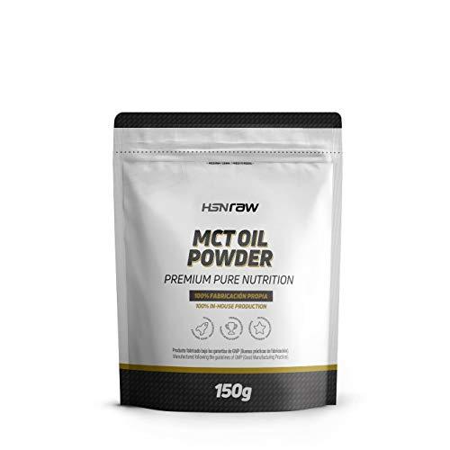 Aceite MCT en Polvo de HSN | Triglicéridos de Cadena Media procedentes del Coco, Ideal para la Dieta Keto, Fuente de Energía | Vegano, Sin Gluten, Sin Lactosa, 150 gr