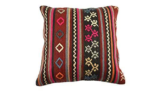 Kelim 3544 - Cojín (50 x 50 cm, funda de almohada decorativa, 50 x 20 pulgadas), diseño de Kilim Lumbar