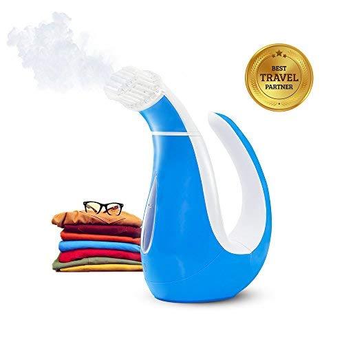 SHENMATE Vaporizador de Mano para la Ropa, Mini Plancha de Vapor (Azul Marino)
