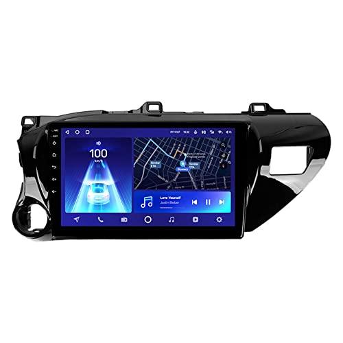Estéreo de automóvil con Bluetooth, Navegador GPS para Coche Android 10 para Toyota Hilux Pick Up AN120 2015 - 2020 con 4G WiFi DSP Carplay Control del volante Cámara trasera,8core 4g+wif: 3+ 32g