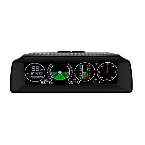 RETYLY Nuevo Go-2 GPS Head Up Display VelocíMetro de Pendiente InclinóMetro BrúJula de AutomóVil AutomóVil Hud Pitch áNgulo de InclinacióN Transportador de Reloj Latitud Longitud