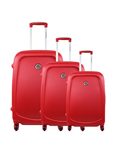 zifel Set de 3 trolleys rígidos 005-W Rojo