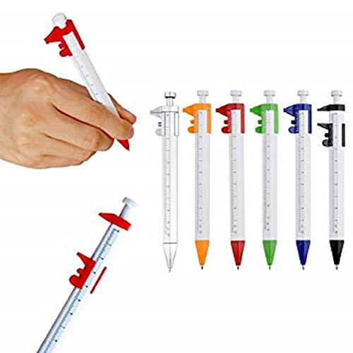 リタプロショップ? ノギス付き ボールペン カラーランダム 定規 ものさし 工具 測定 面白グッズ