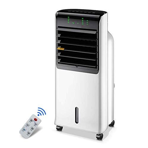 IUHUA Enfriador evaporativo, Enfriador de Aire portátil sin Cuchillas, humidificador de Ventilador eléctrico con Control Remoto, Aire Acondicionado de 3 Modos para Oficina en casa