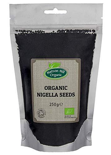 BIO Schwarzkümmelsamen Original Nigella Sativa Schwarze Samen, schwarze Zwiebelsamen, Charnushka, Kalonji, Schwarzkümmel) 250g von Hatton Hill Organic – BIO zertifiziert