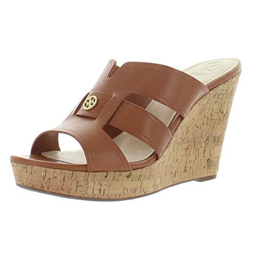 GUESS Womens Eadra2 Open Toe Special Occasion Platform Sandals Tan