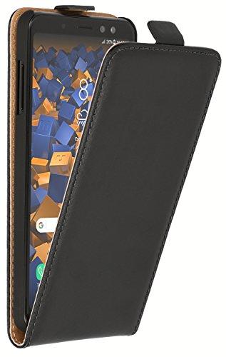 mumbi Tasche Flip Hülle kompatibel mit Samsung Galaxy A8 2018 Hülle Handytasche Hülle Wallet, schwarz