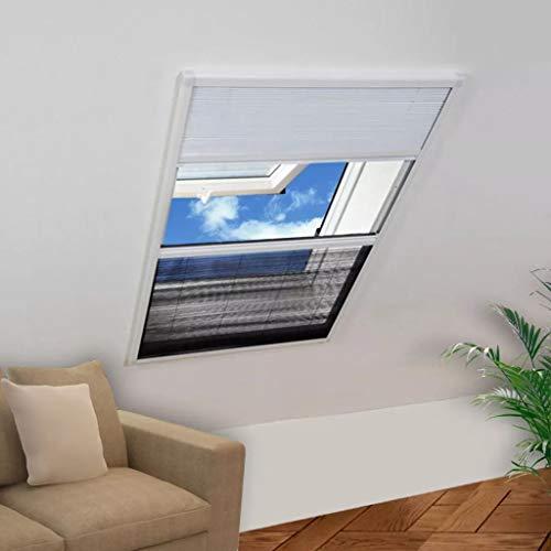 HUANGDANSP Finestra per Insetti Finestra Plisse 160 x 110 cm in Alluminio con Ombra Casa e Giardino Arredo Trattamenti per finestre Rete per zanzare