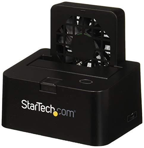 StarTech.com SDOCKU33EF - Base de conexión USB 3.0 UASP y eSATA con Ventilador para Disco SATA III 6 Gbps de 2.5' y 3.5'