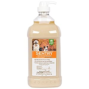 SENTRY Oatmeal Flea and Tick Shampoo for Dogs, Rid Your Dog of Fleas, Ticks, and Other Pests, Hawaii Ginger Scent, 63.5 oz