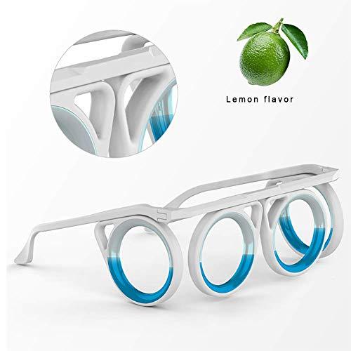 NN Anti Reisekrankheit Brillen für Kinder Cruise Ship Zubehör Anti-Übelkeit Faltbare Smart-Gläser Heben airsick Krankheit Seekrankheit Abnehmbarer für Reisen,Weiß
