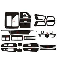 車のステッカーとデカール光沢のあるラップトリムデカール車のスタイリングインテリア、トヨタカムリXV502012-2016に適合