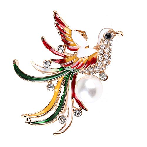 YAZILIND Retro Mulitcolor Vogel Brosche...