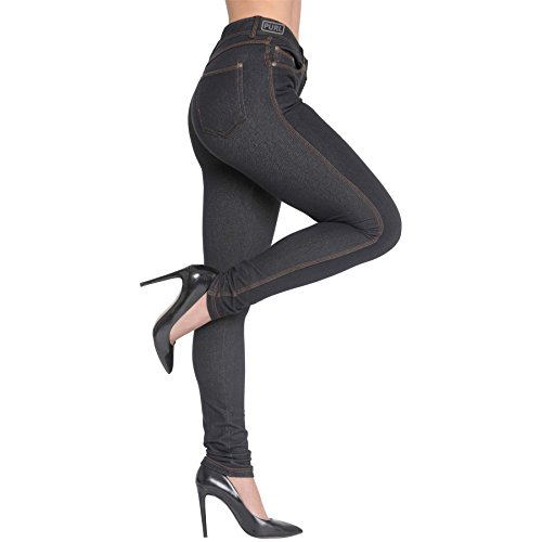 Womens Skinny Fit Jeans Jeggings Trouser BLACK DENIM/2XL-16