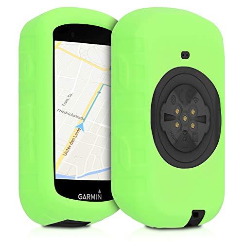 kwmobile Schutzhülle kompatibel mit Garmin Edge 530 - Hülle - Silikon GPS Fahrrad Navi Cover Case - Grün