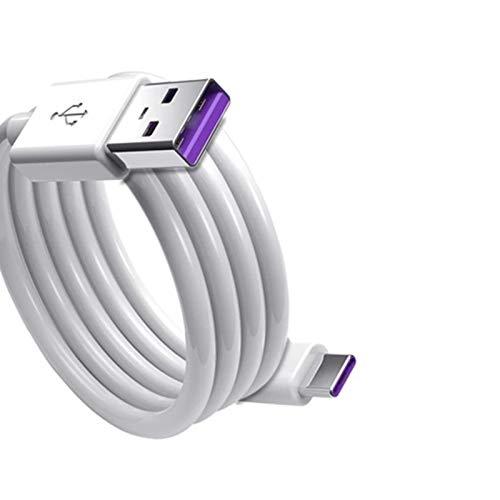 2 unids 1m 5A USB tipo C Cable de carga rápida USB-C cable para Huawei Samsung Nota 9 Tipo-c datos carga rápida cable cargador USB c