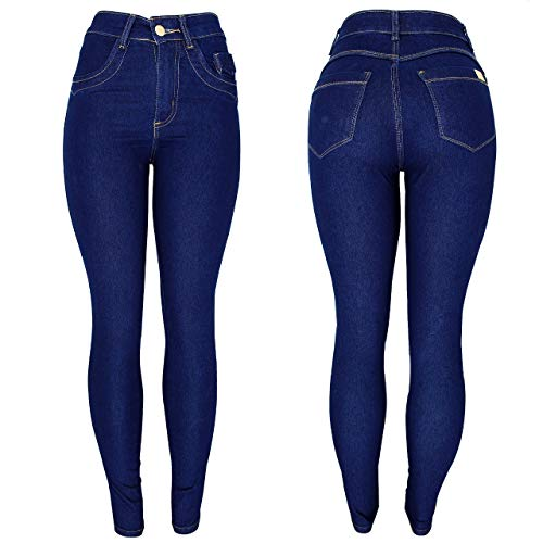 Calça Jeans Feminina Skinny Cós Alto Cintura Alta Hot Pants (40)