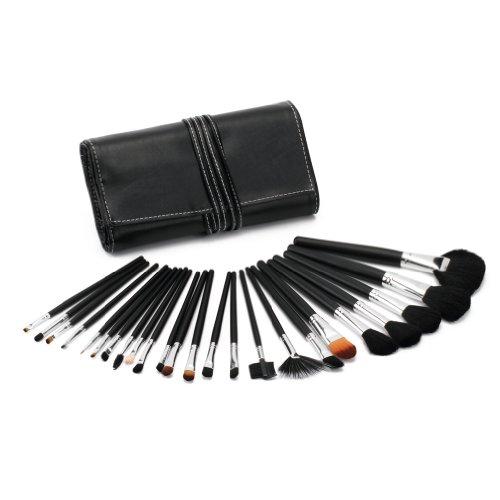 Glow 24 lot pinceaux maquillage trousse (Black Handle)