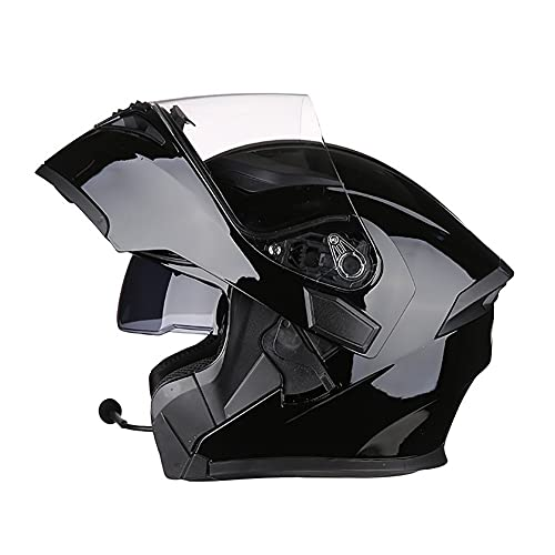 Casco Moto Modular Bluetooth Incorporado Cascos Integral Flip Up Helmet ECE Aprobado Casco Scooter con Doble Visera Anti Vaho para Hombre Mujer Casco de Motocicleta 57~63cm