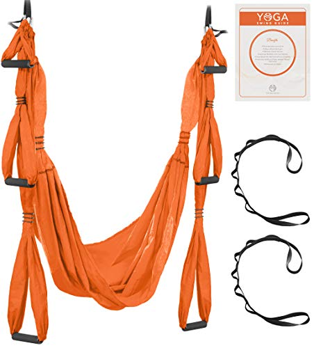 Learn More About UpCircleSeven Aerial Yoga Swing Set - Yoga Hammock/Sling Kit + Extension Straps & e...