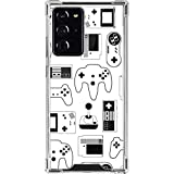 Skinit Clear Phone Case Compatible with Galaxy Note 20 Ultra 5G - Skinit Originally Designed Retro Gaming Controllers Design
