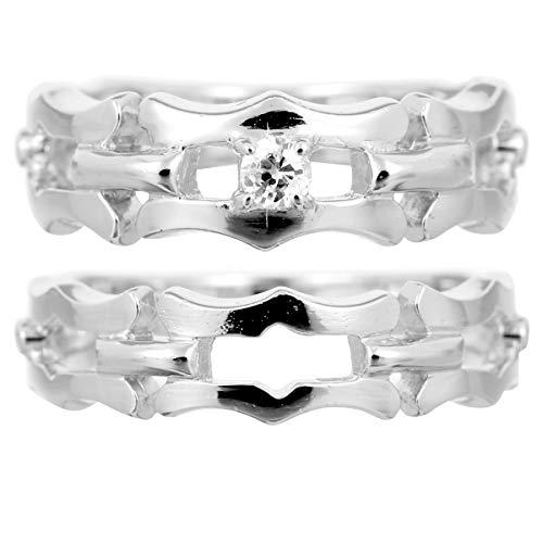 [ココカル]cococaru ペアリング プラチナ 結婚指輪 プラチナ Pt900 2本セット マリッジリング ダイヤモンド 日本製(レディースサイズ3号 メンズサイズ6号)