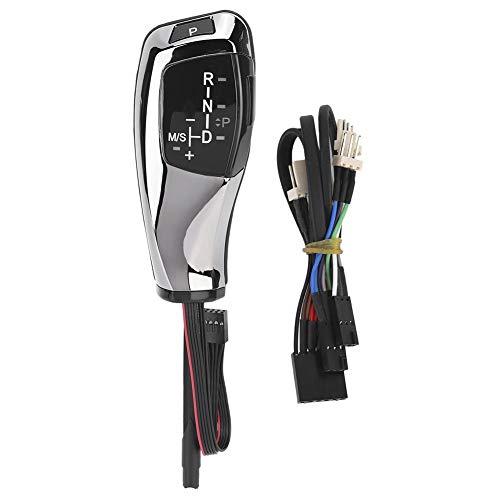 RHD LED-Schaltknauf für E46 E60 E61 E63, Austausch des automatischen Schalthebels(Schwarz überziehen)