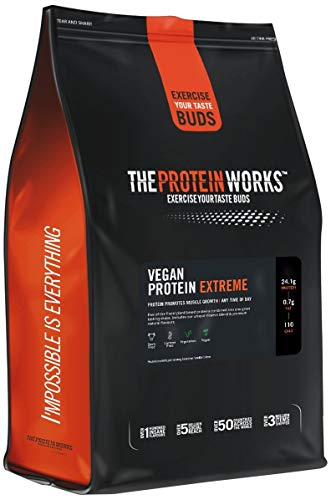 Proteína Vegana Extreme 1 kg   Sabor Caramelo Salado   Gran fuente de Proteína vegetal