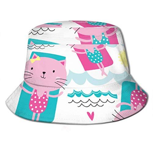 Henry Anthony Cappellino da Sole Cat On Floating Materasso ad Aria Secchiello Cappello da Sole Protezione Packable Summer Fisherman cap per Pesca, Canottaggio da Spiaggia