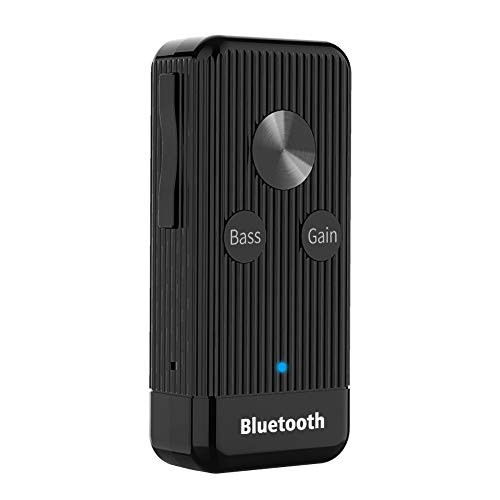 Adaptador Bluetooth 5.0 EDR, receptor de audio inalámbrico con conector de 3.5 mm, transmisor Bluetooth para coches/TV/computadora/proyector/altavoz/auriculares negro