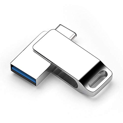 YOLANDE USB Stick 128GB, 3.0 2-in-1 Speicherstick USB-C, für PC Laptop, Huawei P9, Xiaomi 4C, Xiaomi 4S, Xiaomi 5, Xiaomi Tablet 2, OnePlus 2, Meizu Pro5, Nokia N1 Tablet usw