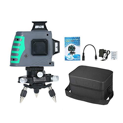 KKmoon Medidor de nivel autonivelante Nivel láser profesional Línea láser Medidor de...