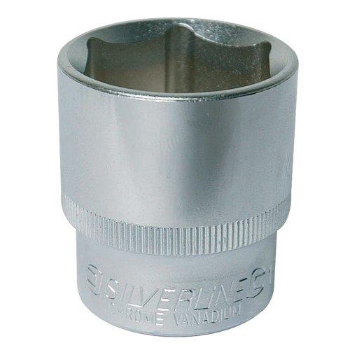 Silverline 486935 Steckschlüsseleinsatz, zöllig, 1/2-Zoll-Antrieb 1 1/8 Zoll