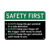 安全第一! 銃の安全ルール! セキュリティサイン