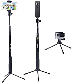 YiSeyruo Selfie Stick Extendable Monopod with Tripod Stand for GoPro Hero 5/4/3+/3/2/1/Session, Samsung Gear 360,4K Action...