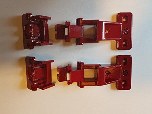 4 Stück Hettich Möbelband VORWERK Scharnier Topfscharnier in BORDEAUX - NEU- # 11530016-4405/72 - für Schränke Küchenschränke Vorwerkküche Küche Hängeschränke Möbelband Möbel Möbelscharnier VORWERK