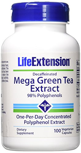 small Green tea extract without decaffeinated.  100 VegiCaps capsules (2 per pack)