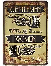 Heren Vrouwen Vinger Teken Vintage Metalen Schilderij, Reclame Vintage Deco Metalen Muur Kunst Teken Decoratie Tin Schilderen Poster