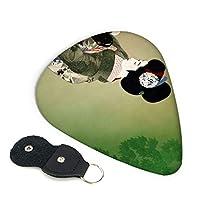 ピック 6枚セット ギターピック 北野恒富 戯れ ティアドロップ型 スリップレス 0.96mm
