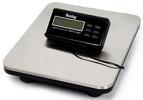 Kenley Paketwaage Plattformwaage Digital bis 150kg / 300kg - Edelstahl Digitalwaage Plattform Paket Waage - Netzstrom / Batterie Betreibbar