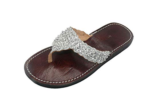 Orientalische Leder Schuhe Orient Sandalen - Damen - 905781-0002, Schuhgrösse:39