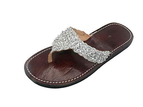Orientalische Leder Schuhe Orient Sandalen - Damen - 905781-0002, Schuhgrösse:38