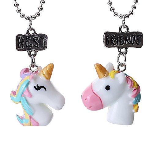 Gudeke Good Friends - Collares con colgante de unicornio para niños