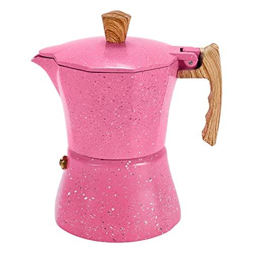 SNOWINSPRING Máquina de espresso para cocina – Cafetera moka para cocina de gas o eeléctrica – Máquina de espresso de 3 tazas para el italiano