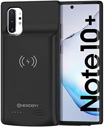 Galaxy Note 10 Plus Cover Batteria, 6000mAH Custodia Ricaricabile Cover Caricabatterie Esterna Batteria per Samsung Galaxy Note 10 Plus Power Bank Charger Case (supporto ricarica wireless Qi)