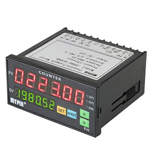 Elenxs Mypin FH8E-6CRNB multifonction Preset 6 Compteur numérique Compteur numérique de la longueur, Longueur Intelligent Intelligent lot Longueur compteur 24 V DC Count compteur relais de sortie