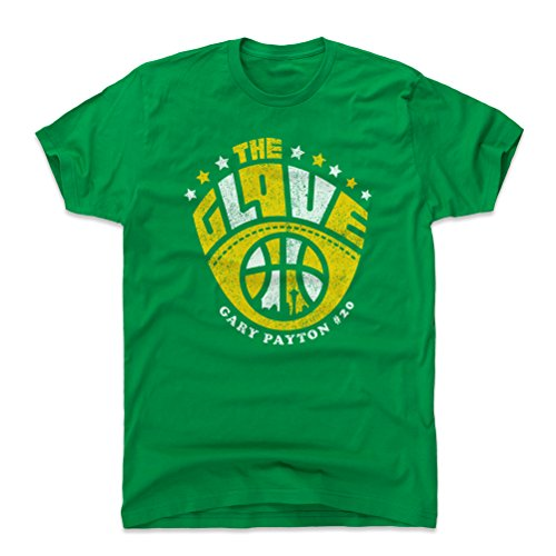 500 LEVEL Gary Payton Shirt (Cotton, Large, Kelly Green) - Seattle Men's Apparel - Gary Payton Glove Y WHT